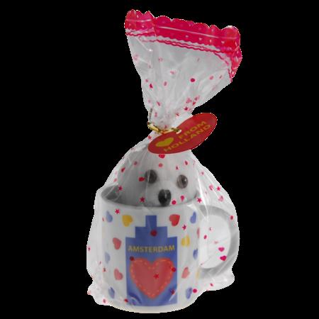 Mini Holland Mug with Teddy Bear