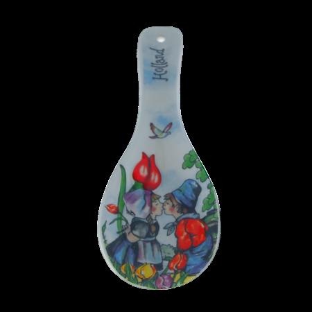Ceramic Spoon Rest Kissing Couple
