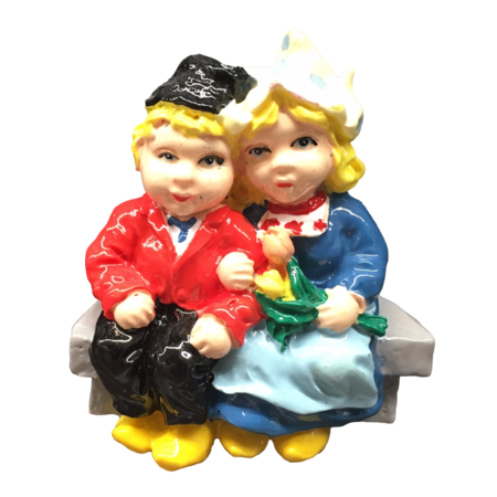 Dutch Couple on a Bench Magnet