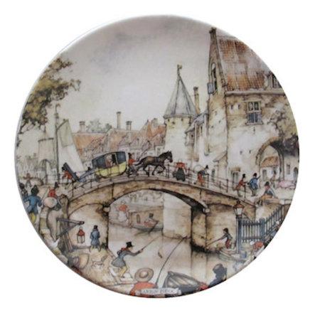 Anton Pieck Wall Plate Utrecht
