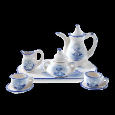 Miniature Ceramic 6pcs Tea Set
