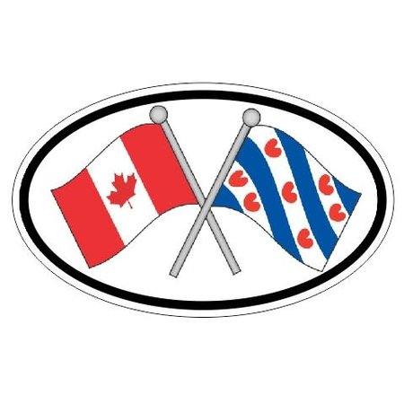 Canada & Friesland Sticker