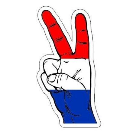 Dutch Peace Sign Car Sticker