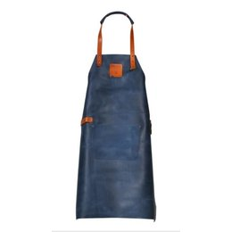 Mr. Smith Culinary Leather Apron Blue