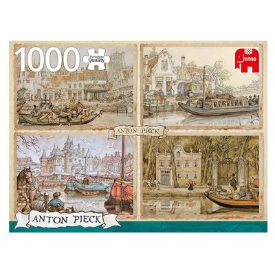 Anton Pieck Canal Boats Puzzle 1000pc