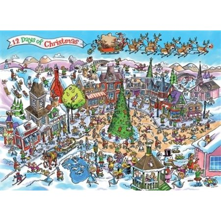 DoodleTown: 12 Days of Christmas Puzzle 1000pc