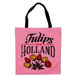 Tulips from Holland Pink Shopping Bag (Cotton)