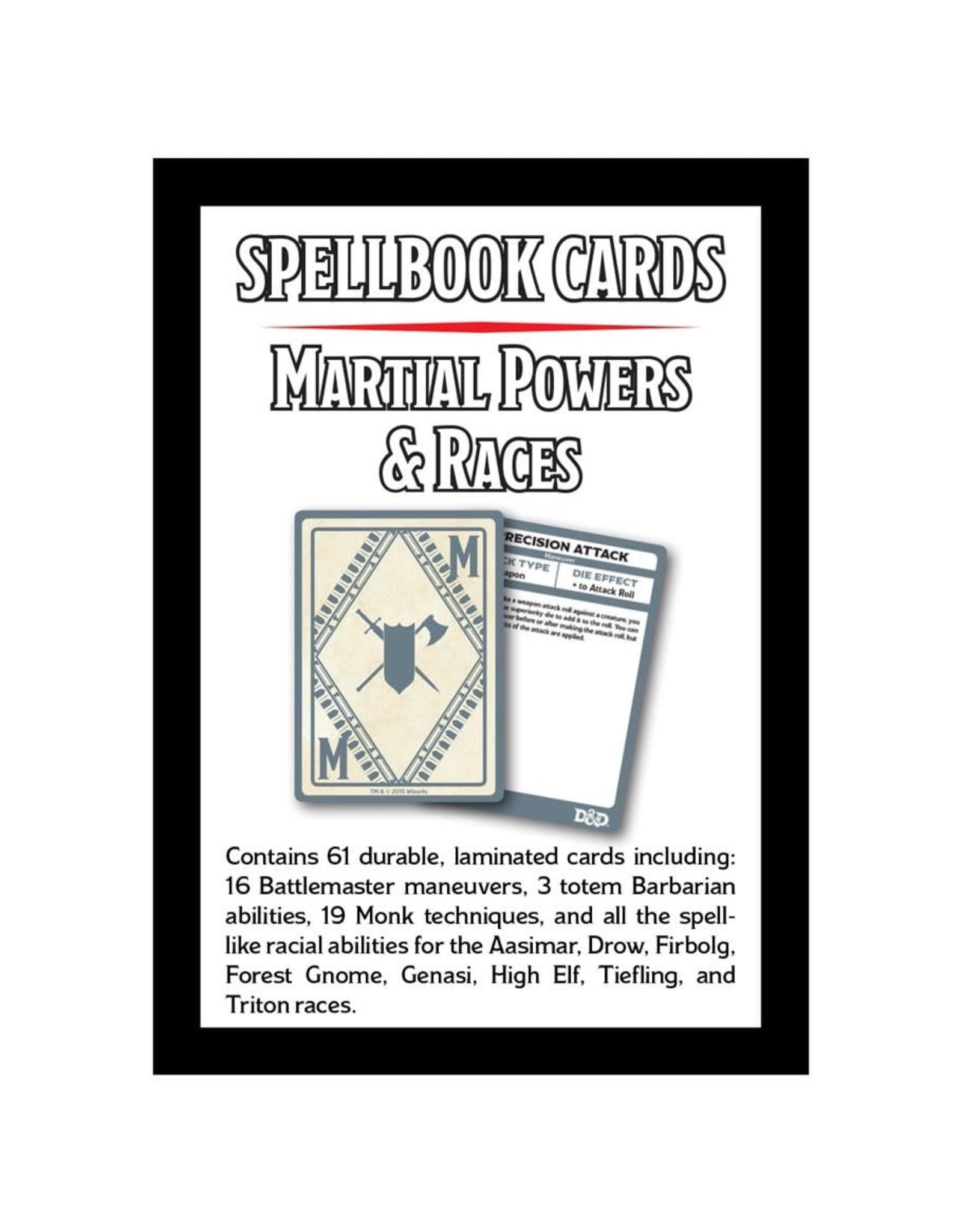 Dungeons & Dragons D&D Spellbook Cards: Martial & Race Deck