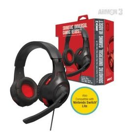 """Soundtac"" Universal Gaming Headset - Red - Armor3"