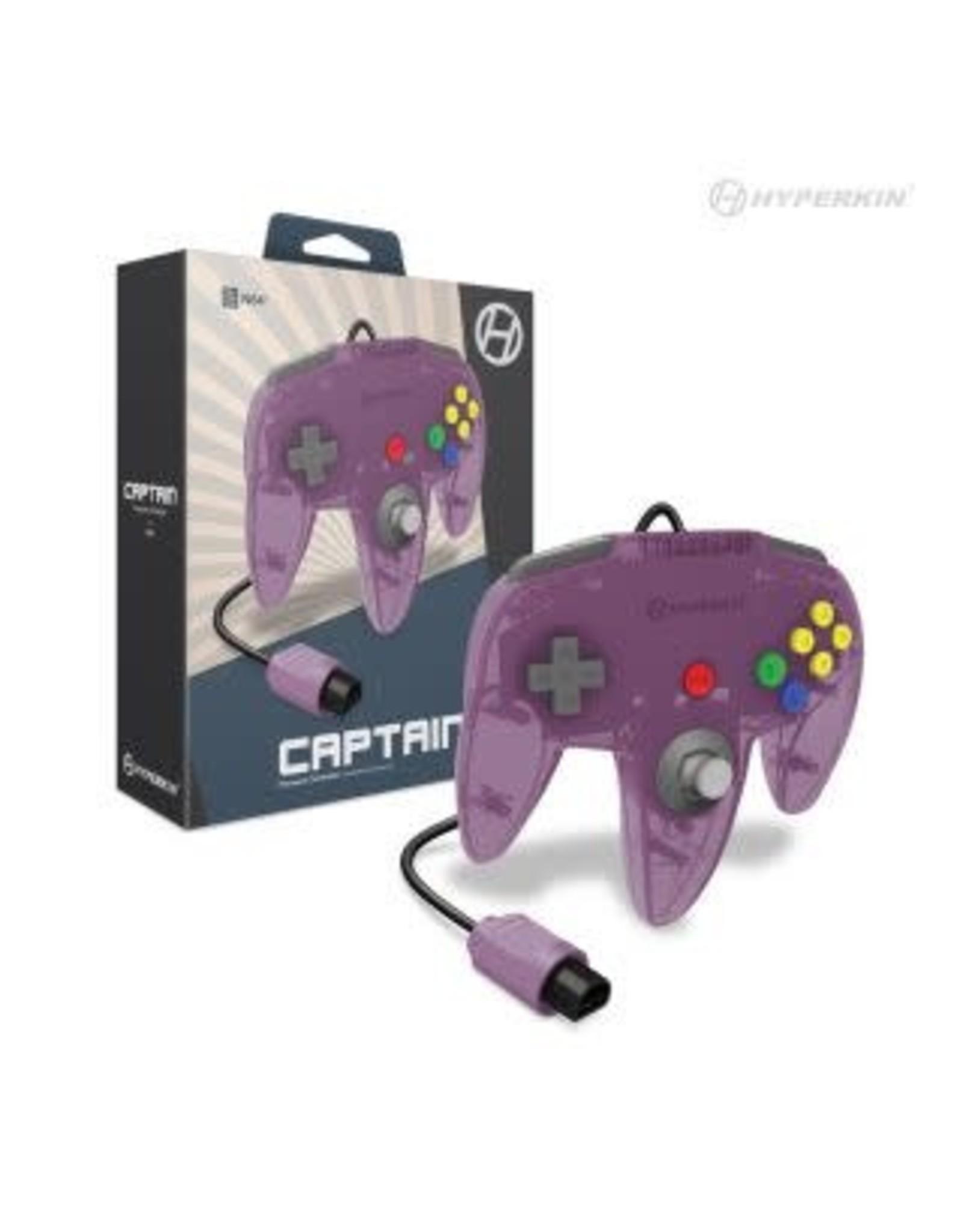 """Captain"" Premium Controller For N64® (Amethyst Purple) - Hyperkin"