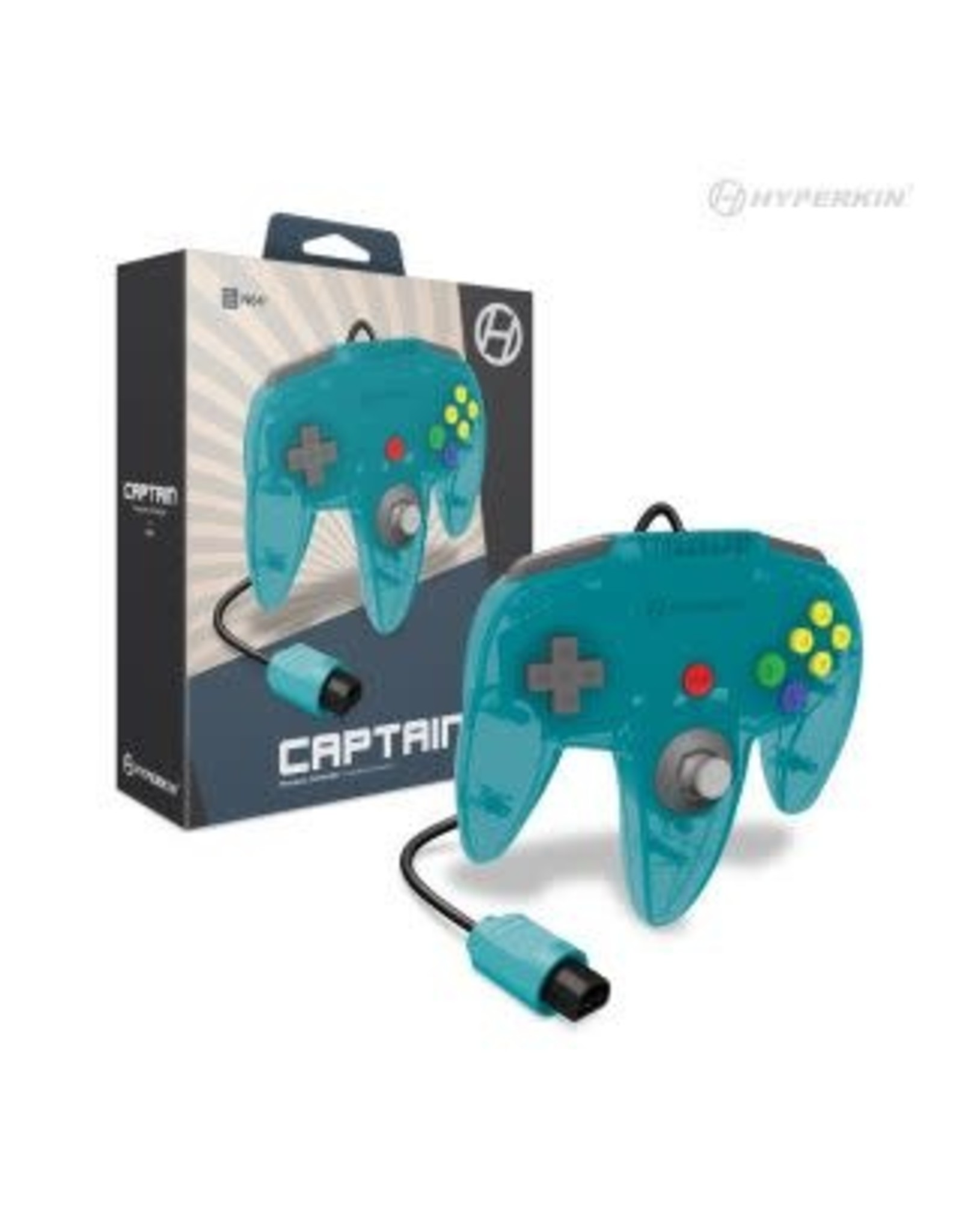 """Captain"" Premium Controller For N64® (Turquoise) - Hyperkin"