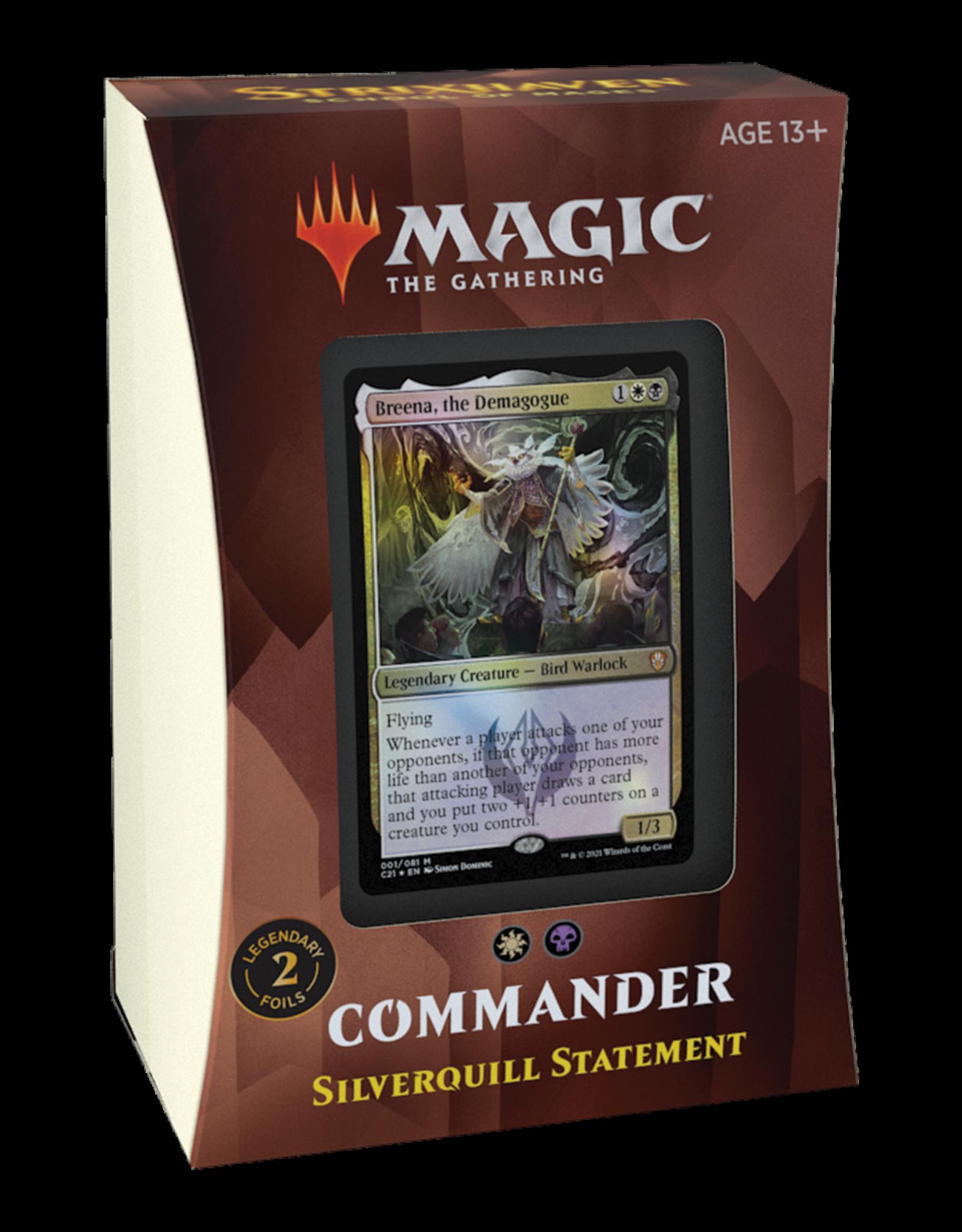 Strixhaven Commander -  Silverquill Statement