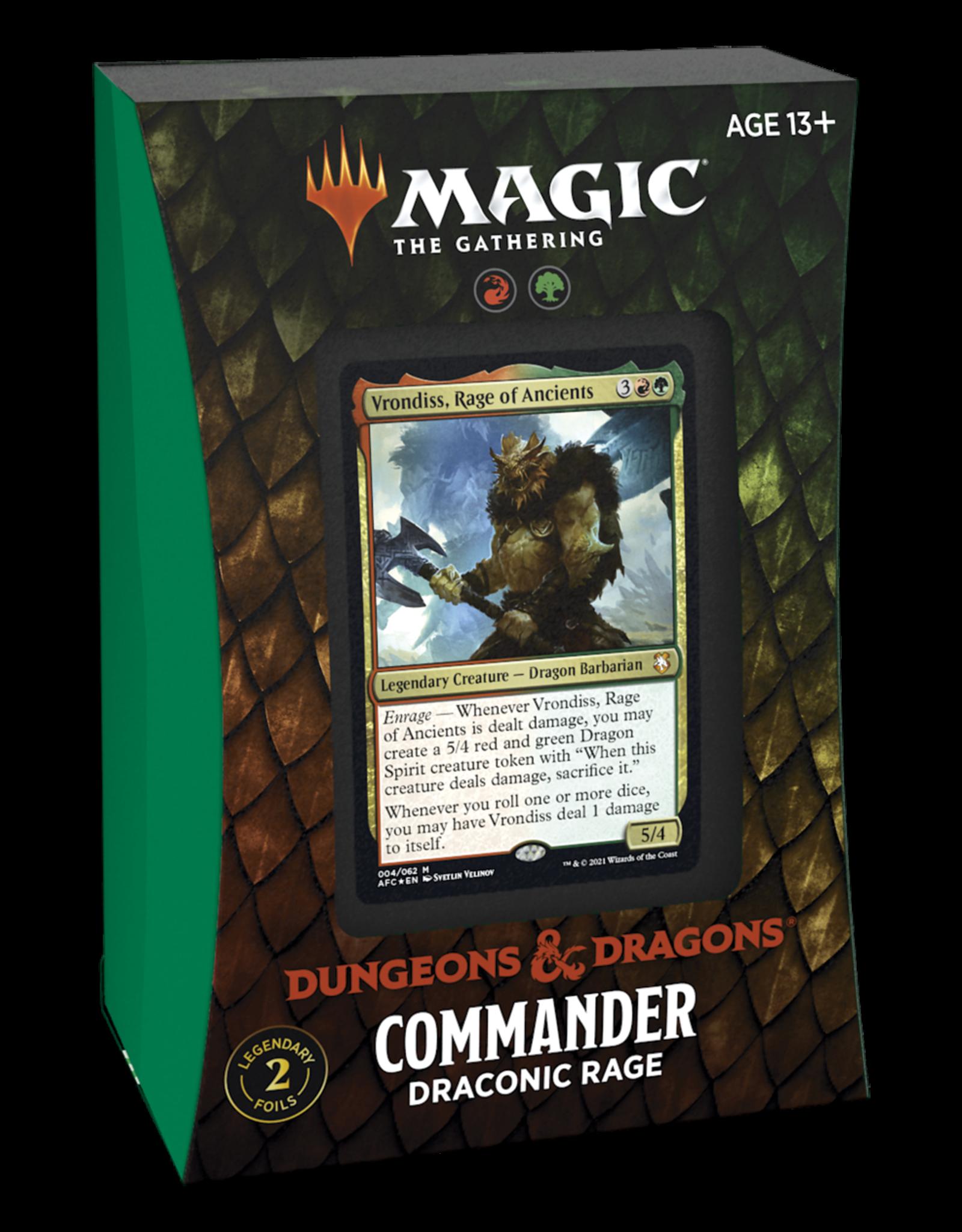 Adventures in the Forgotten Realms (AFR) Commander Deck - Draconic Rage (GR)
