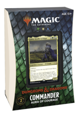 Adventures in the Forgotten Realms (AFR) Commander Deck - Aura of Courage (GWU) - PREORDER, AVAILABLE JULY 16