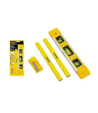 4 PC Carpenter Set