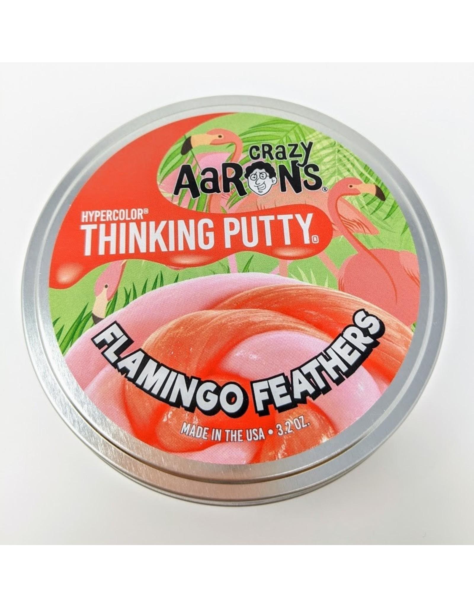 "Crazy Aaron's Hypercolour Flamingo Feathers - 4"""