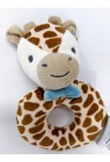 Plush Ring Rattle - giraffe