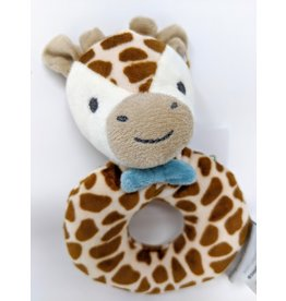 Plush Ring Rattle - giraffe