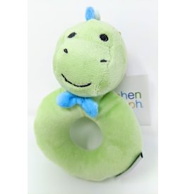 Plush Ring Rattle - dino