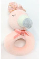 Plush Ring Rattle - flamingo