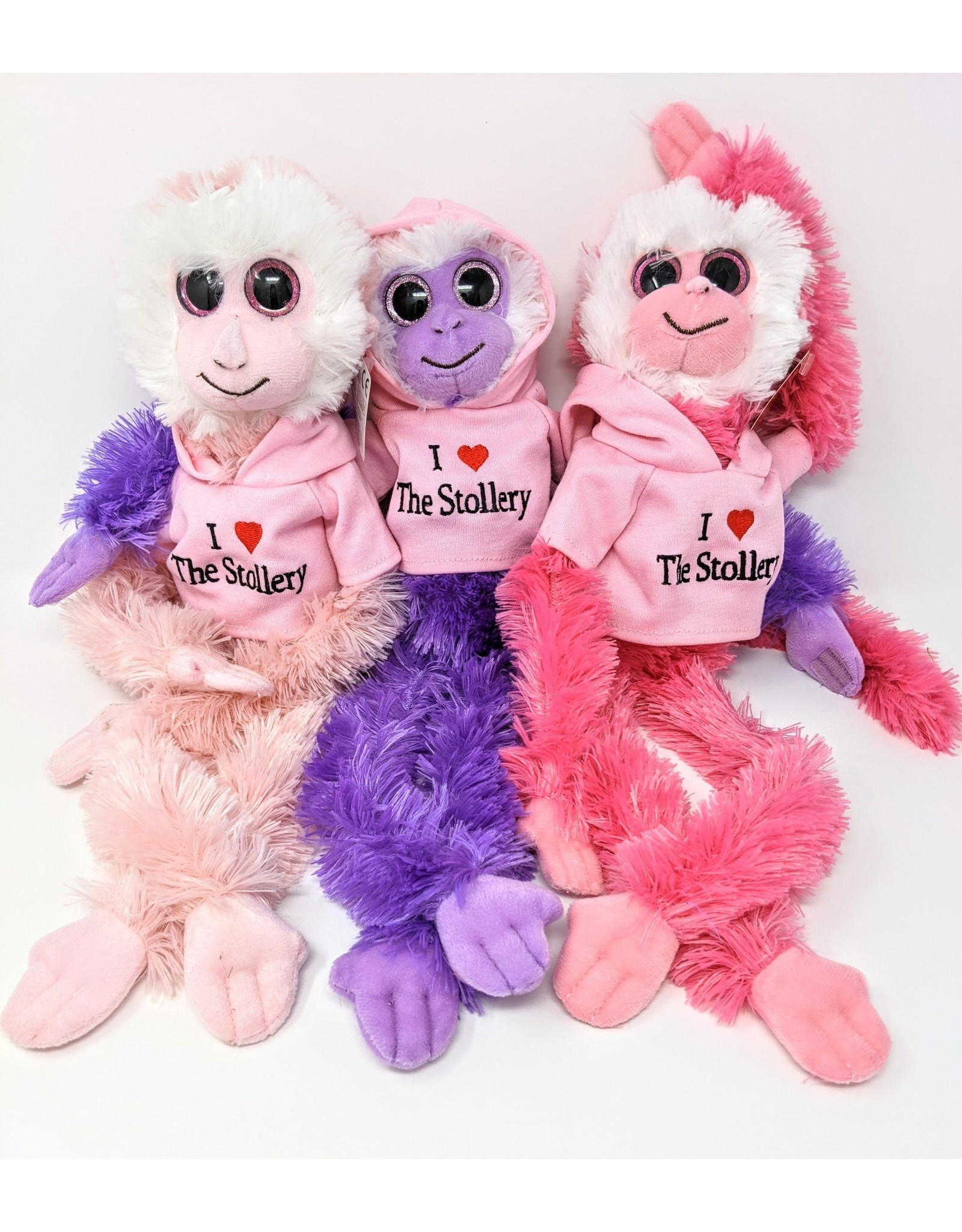 Aurora Monkey White Face  - pink-stollery-hoodie