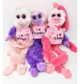 Aurora Monkey White Face  - pink-stollery-hoodie