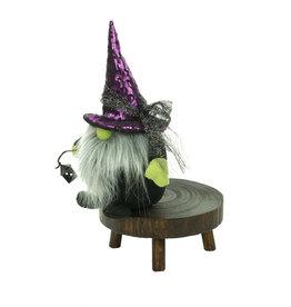 "Witch Gnome 11"" - Purple/Black w/Lantern"