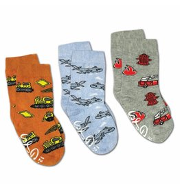 Good Luck Sock Airplanes/Construction/Firefighter Socks, 0-12mo