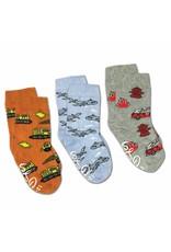Good Luck Sock Airplanes/Construction/Firefighter Socks, 2-4