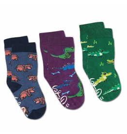 Good Luck Sock Hippo/Crocodile/Dino Socks, 0-12mo