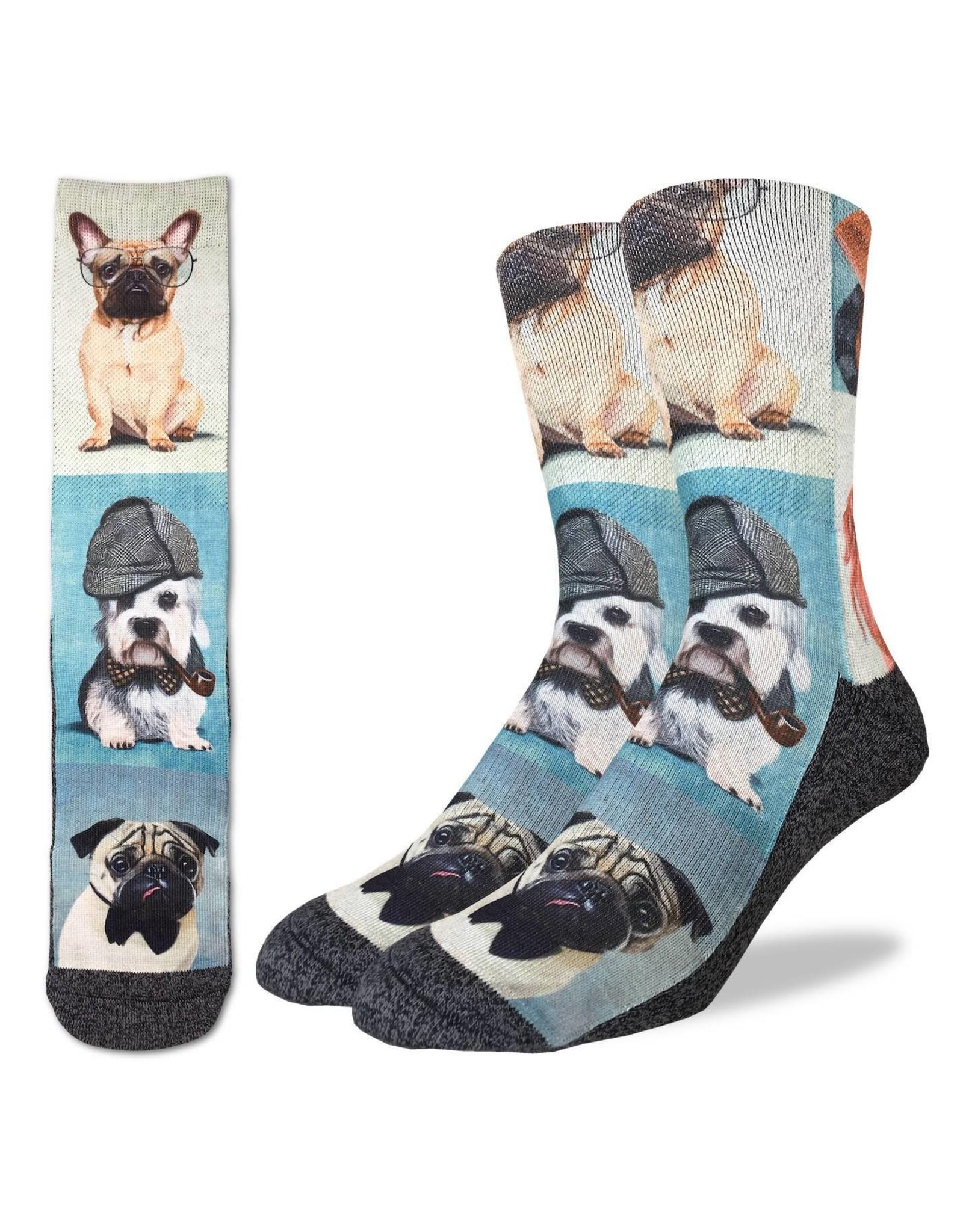 Good Luck Sock Dashing Dogs Socks, 8-13