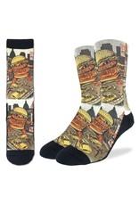 Good Luck Sock BurgerZilla Socks, 8-13