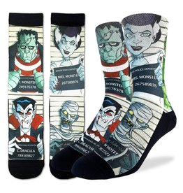 Good Luck Sock Halloween Mugshots Socks, 8-13