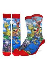 Good Luck Sock Sesame Street Family Socks, 8-13