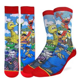 Good Luck Sock Sesame Street Family Socks, 8-13