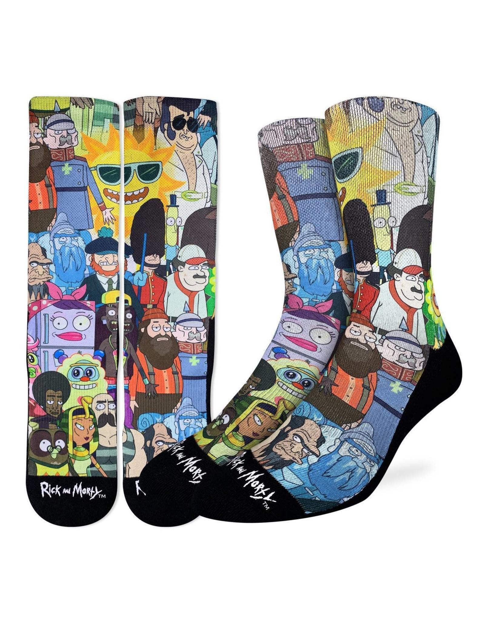 Good Luck Sock Rick/Morty Character Socks, 8-13