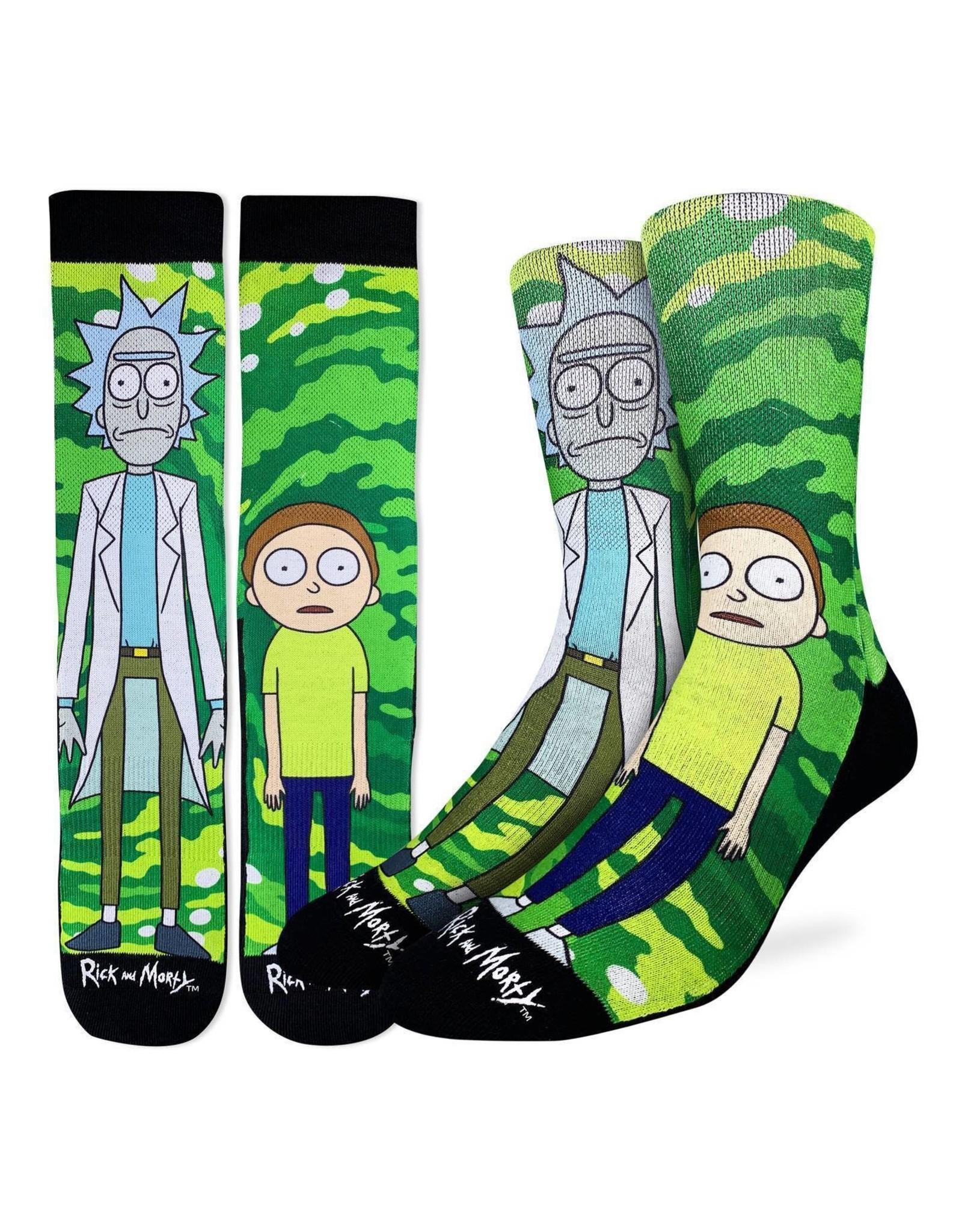 Good Luck Sock Rick & Morty Socks, 8-13