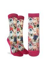 Good Luck Sock Floral Cats Socks, 5-9