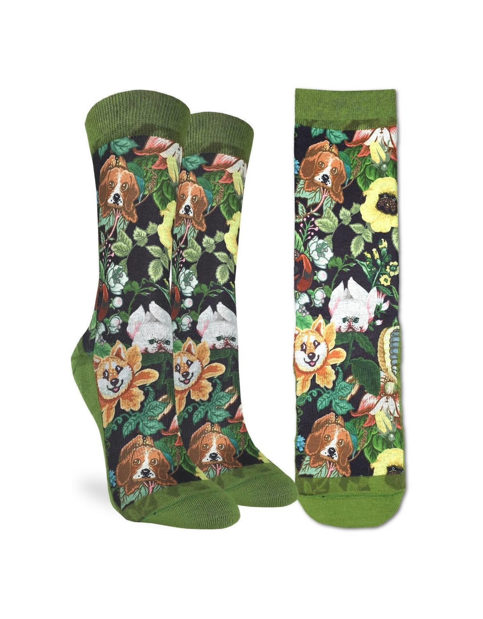 Good Luck Sock Floral Dogs Socks, 5-9