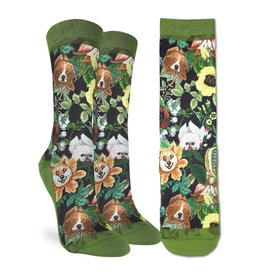 Good Luck Sock Floral Dogs Socks, 5-9