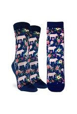Good Luck Sock Floral Pigs Socks, 5-9