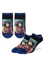 Good Luck Sock Space Monkey Ankle Socks, 7-12