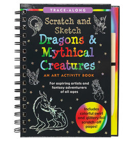 Scratch & Sketch Book -  dragons & mythical creatures (trace along)