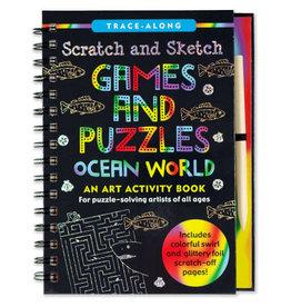Scratch & Sketch Book -  games & puzzles, ocean world