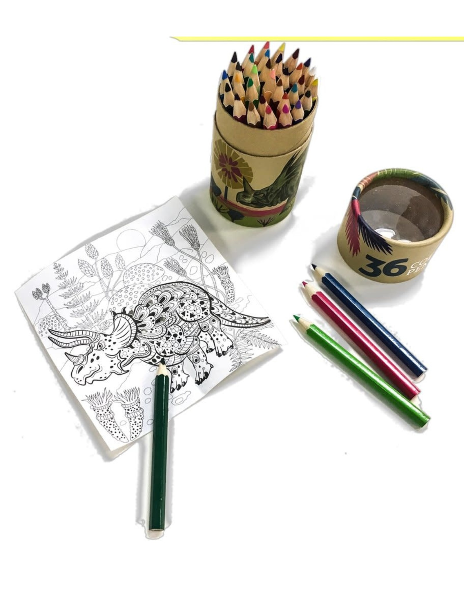 Coloured Pencils - 36 piece mini (Dinos)