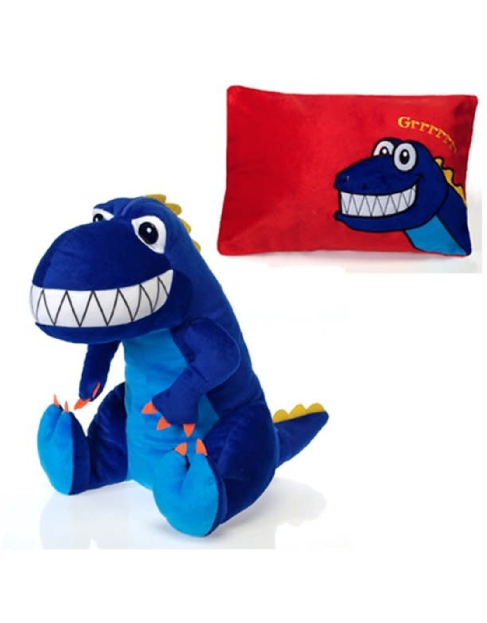 Peek-a-Boo Plush - dinosaur pillow
