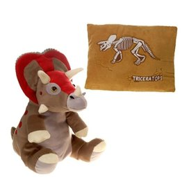 Peek-a-Boo Plush - triceratops pillow
