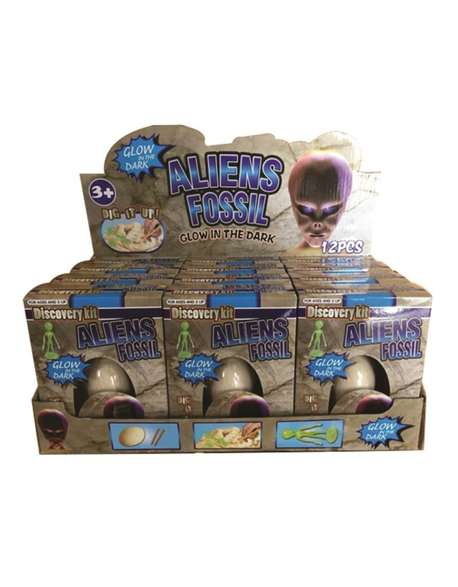 Alien Fossil Egg - glow in dark