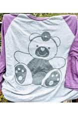 Stollery Dark Grey and Purple 3/4 Shirt
