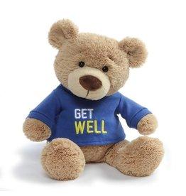 GUND Get Well Bear - blue shirt